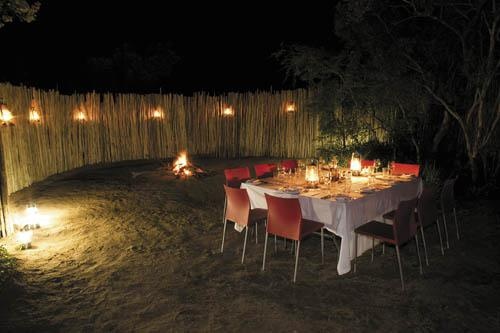 Dining beneath the African stars