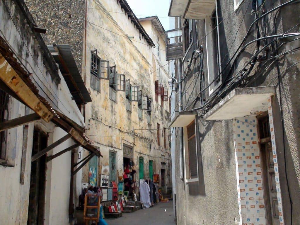 Street in Stone Town in Zanzibar