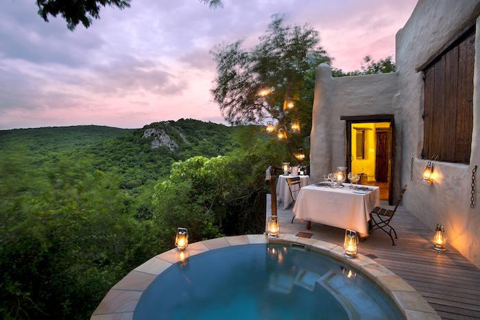 Sunset at Phinda Rock Lodge