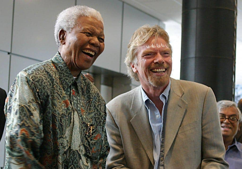 Branson and Mandela (Photo David Turnley)