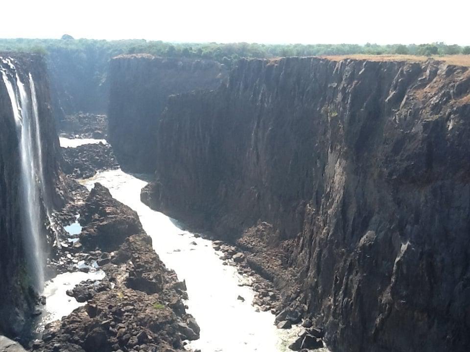 Vic Falls in low water season