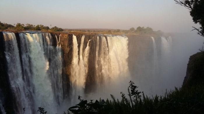 Victoria Falls low water