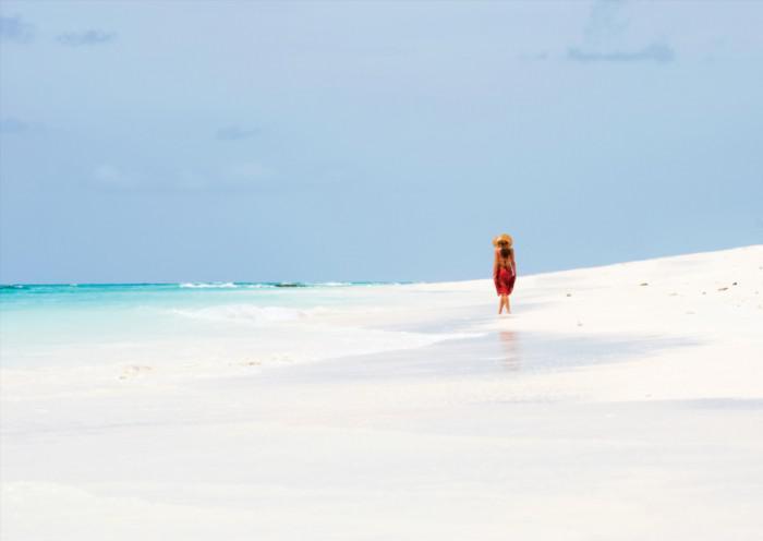 Vamizi Island beach walk