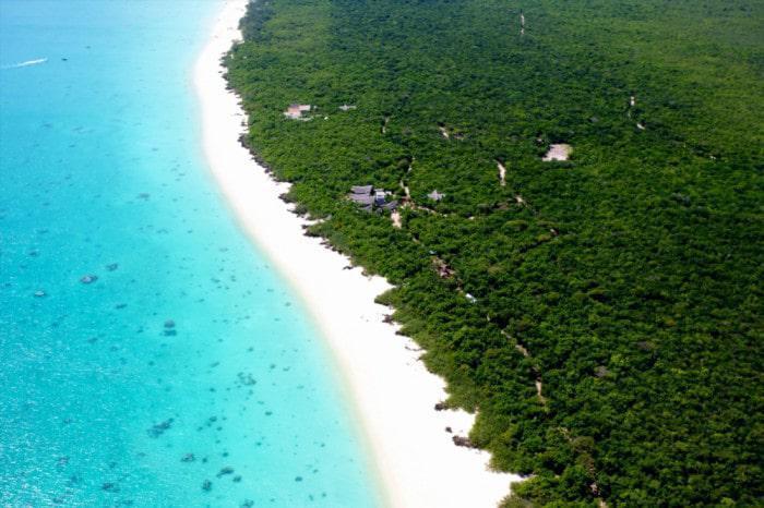 Vamizi Island Suluwilo Arial View