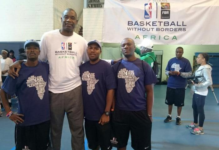 Hoops 4 Hope team with Dikembe