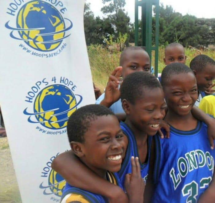 Kids in Zim playing games to promote peace, gender equality & respect for environment