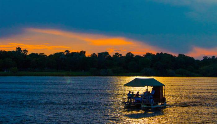 cruising along the zambezi at andbeyond matetsi river house