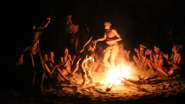 Bushmen fire