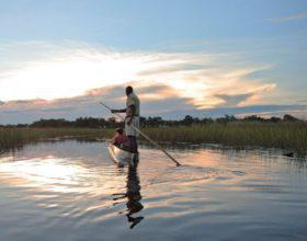 Gliding-in-a-traditional-mokoro-in-the-Okavango-Delta-Maun