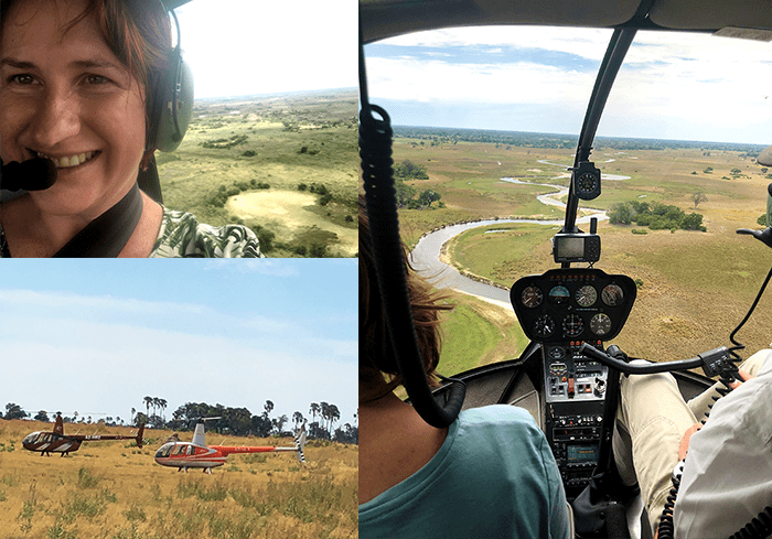 Heli-transfer between Nxabega and Sandibe