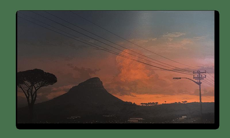 A true Cape Town sunset! Painting at Kensington Place
