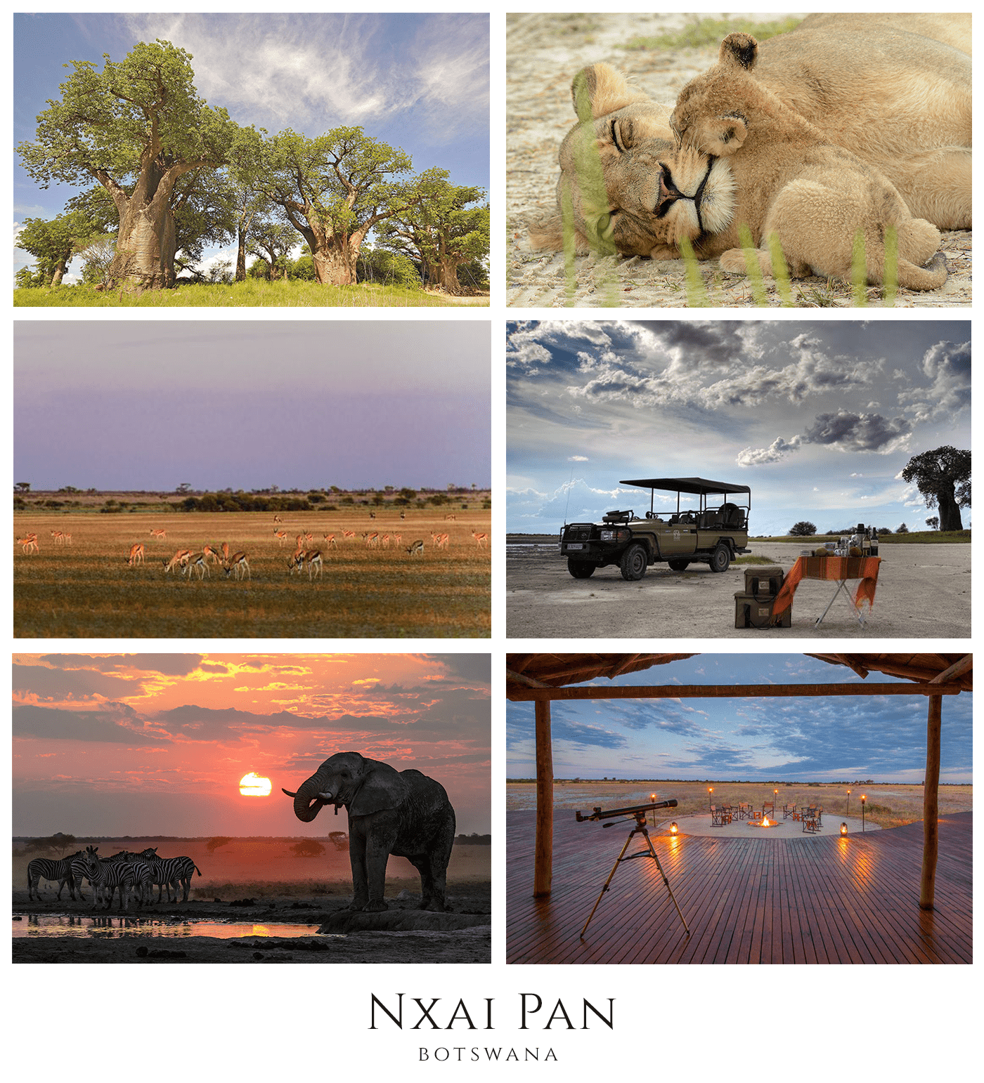 Beautiful views and wildlife at Nxai Pan in Botswana - African Safaris