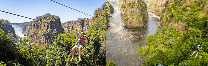 Ziplining with Wild Horizons Canopy Tours at Victoria Falls
