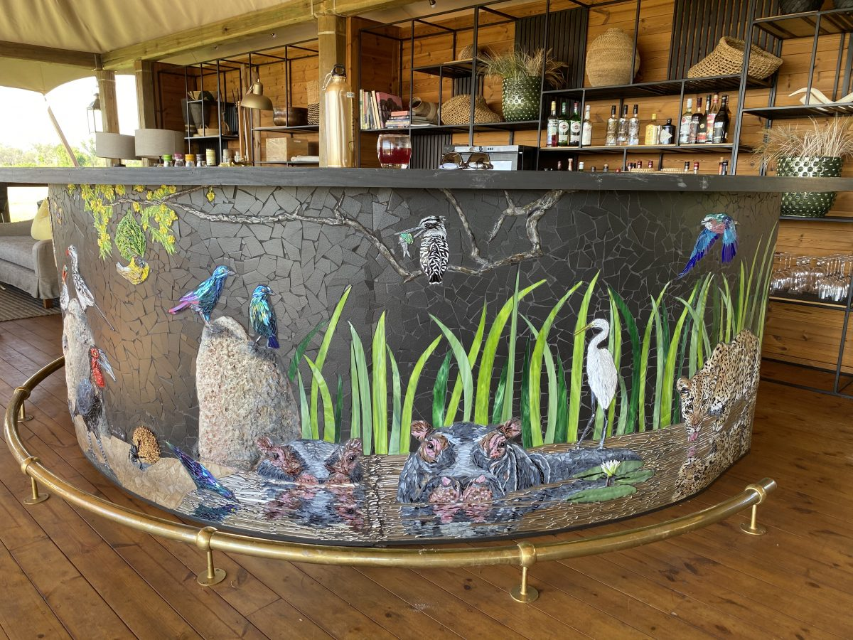 Tuludi Camp's magnificent mosaic bar